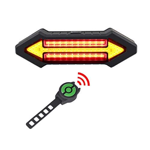 LIOOBO Smart LED Fahrrad Rücklicht Blinker Licht wiederaufladbare Warnung Rücklicht