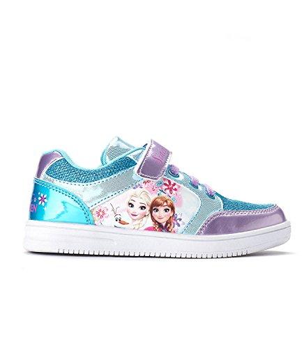 Elsa Frozen Mädchen Die Schuhe (Disney Die Eiskönigin Elsa & Anna Mädchen Sneaker - türkis -)
