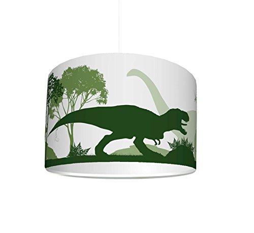 STIKKIPIX para la habitaci/ón de los ni/ños como l/ámpara de pie o l/ámpara colgante plaf/ón L/ámpara Infantil pantalla Dinosaurios KL56
