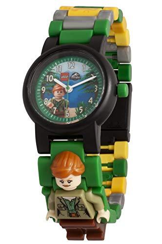 Reloj modificable infantil 8021278 de Jurassic World de LEGO con figurita de Claire