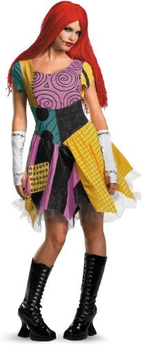 Adult Nightmare Kostüm Sally Before Christmas - Sassy Sally Rag Goth Dress Costume Adult Medium 8-10