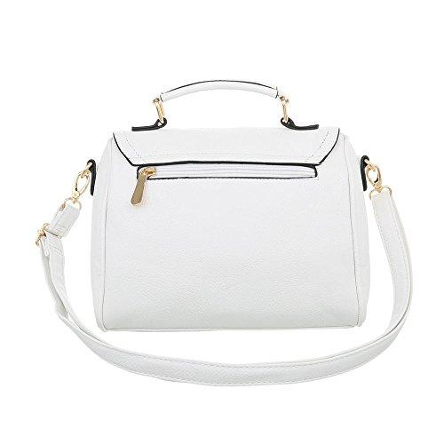 48384a38e67af ... iTal-dEsiGn Damentasche Kleine Schultertasche Used Optik Handtasche  Kunstleder TA-K2657 Weiß