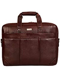 "SCHARF David Jones - Corporate Envelope Leather 15.6"" Brown Laptop Bags."