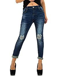 Damen Jeans, Used Look, Destroyed Style Stretch