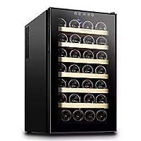 Vinocave 28 Bottle Stainless Steel Freestanding Wine Refrigerator