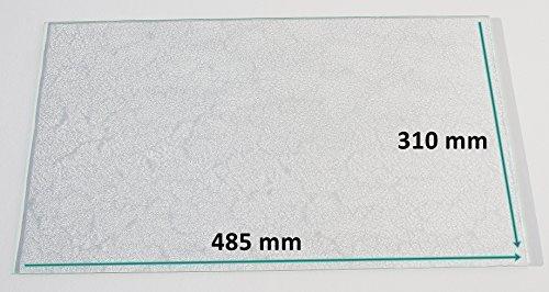 Kühlschrank Einlegeboden / Glasplatte / Gemüsefach – Strukturglas 4 mm dick – 485 mm x 310 mm - Direkt vom Glasereifachbetrieb!!!