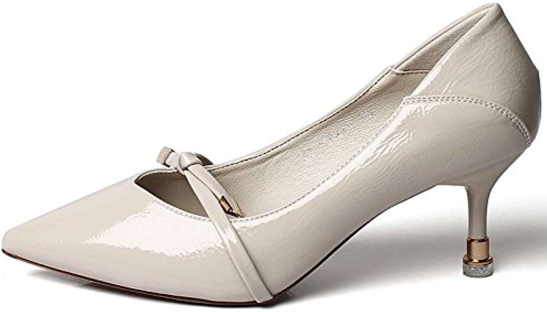 YMFIE La Multa de Las Mujeres con el Temperamento de la Moda Señaló los Zapatos Negros Atractivos del Tacón Alto... -