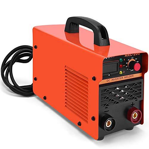 SUNGOLDPOWER 200A ARC MMA IGBT Schweißgerät DC Wechselrichter Inverter Schweißen Anzeige LCD 230V Anti-Stick Welder Schweißinverter Schweißmaschine Lichtbogenschweißgerät Elektrodenschweißgerät