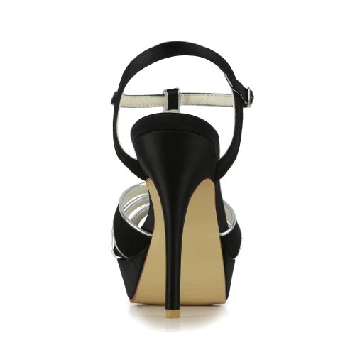 Wedding mariée Noir pour Jia de Jia femme Escarpins chaussures 1296 mariage 7Tqn54w1v
