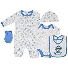 5 Piezas Bebé Set Regalo con Bordado y Aplique - 0/3 Meses