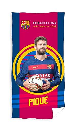 FC Barcelona Piqué Toalla de playa/toalla, 70x 140cm, Original licencia oficial
