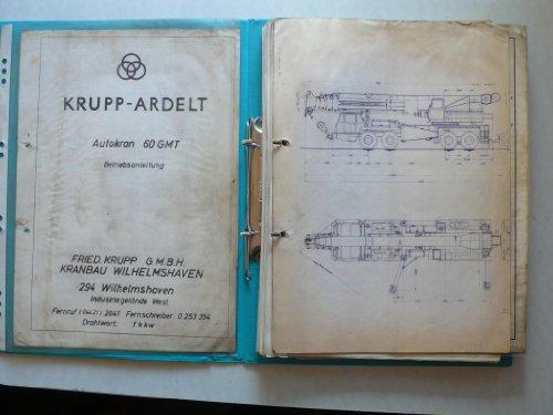 Krupp-Ardelt Autokran 60 GMT - Betriebsanleitung + weitere Anleitungen F&S Kupplungen, Hydromechanik Deri Einheiten, Hydro-Gigant Axialkolbeneinheiten, deutsche Perrot Bremse SM von 1953 und einiges mehr - Einheit Betriebsanleitung