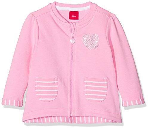 s.Oliver Baby-Mädchen Sweatjacke 65.804.43.5036, Rosa (Light Pink 4400), 92