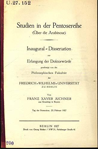 Studien in der Pentosereihe (Über die Arabinose).