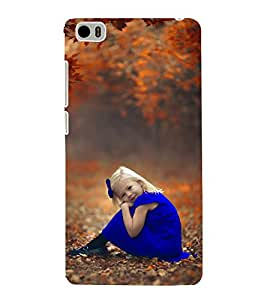 99Sublimation Beautiful Girl in Blue Frock and Ribbon 3D Hard Polycarbonate Back Case Cover for Xiaomi Mi 5 :: Redmi Mi5