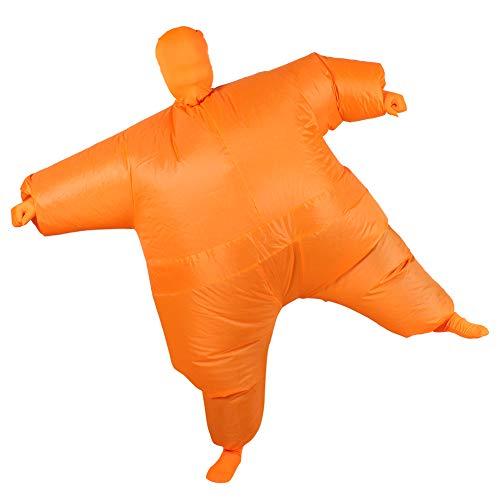 Aufblasbares Fett Dick Kleid Fasching Zweite Haut Anzug Karneval Luftschiff Kostüm - Orange