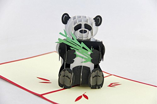 BC Worldwide Ltd Handgemachte Panda und Bambus 3D pop-up Pop-Geburtstagskarte Valentinstag Karte Ostern Karte Vatertag Karte Muttertag Karte Freundschaft Karte
