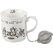 Inconnu Victoria & Albert Alice au Pays des Merveilles Haute Ensemble à thé, Blanc