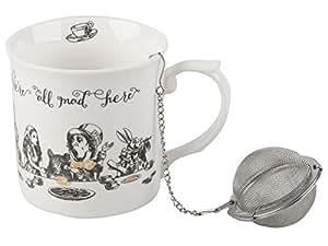 Victoria & Albert - Set da tè di prestigio con motivo- Alice nel paese delle meraviglie - bianco