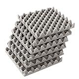 ChaRLes 6Pcs 30x30x4cm Akustische Schallproofing-Foam Tiles Convoluted Egg Studio Sound Insulation Cotton