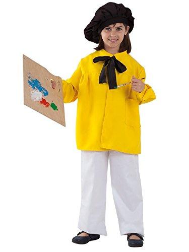 Imagen de disfraz pintor picasso infantil  verde, 5 a 7 años