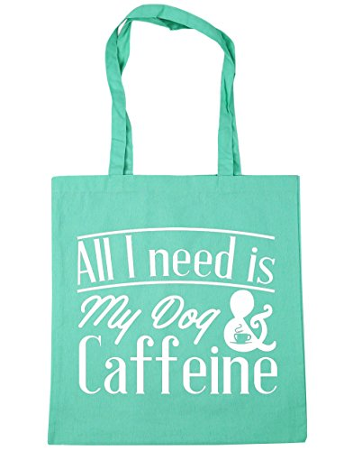 hippowarehouse-all-i-need-is-my-dog-caffeine-tote-shopping-gym-beach-bag-42cm-x38cm-10-litres