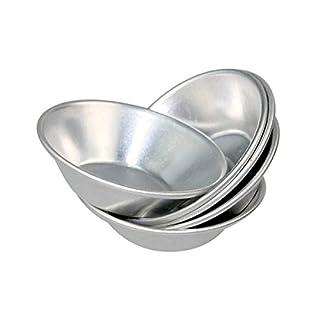 Ancdream 12 Stück Formen für Törtchen / Tartes, Aluminium, Silberfarben