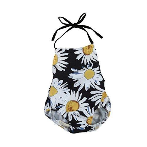 VENMO Kleinkind Neugeborenes Baby Blumenmuster Spielanzug Jumpsuit Outfits Kleidung (Black, (Mermaid Outfit Kleinkind)