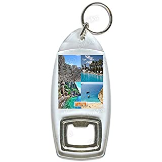 Antalya Turkey - Souvenir Bottle Opener Keyring