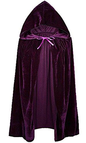 Kostüm Halloween Lady Vampir (Unisex Kinder Mädchen Jungen Umhang für Vampir Halloween Party Kostüm Cap Kapuze Karneval Fasching Kostüm Cape)