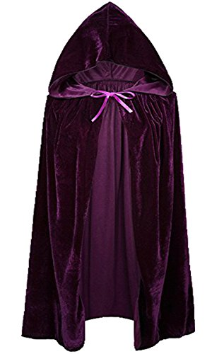 Unisex Kinder Mädchen Jungen Umhang für Vampir Halloween Party Kostüm Cap Kapuze Karneval Fasching Kostüm Cape 60CM (Hexe Kostüm Für Jungen)