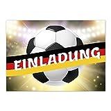 15 x Einladungskarten (Fussball mit Fahne Deutschland) im Postkarten Format mit Umschlag/Fussball/WM/Party/Feier/Einladung