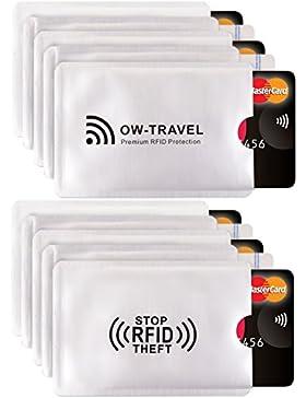 ✅ Bloqueo RFID - ANTI FRAUDE - Protectores para Tarjetas de Crédito Débito Sanitaria Identificaciones - Protector...