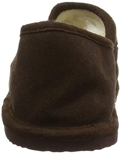 Chaussons daim unisexe en laine avec doublure et semelle rigide ou Par Bushga (Camel Marron Marron - marron
