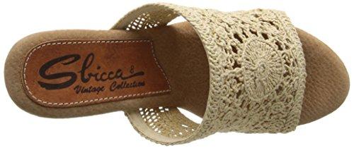 Sbicca Cordoba Femmes Toile Sandales Compensés Natural