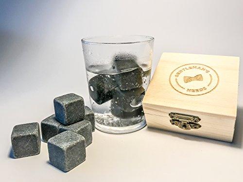 Premium Gin Steine zum Kühlen deines Gin&Tonic - Das Set beinhaltet 6 Gin Steine - Gin Kühlsteine, wiederverwendbare Eiswürfel, Whiskysteine, Whisky Stones, Kühlsteine