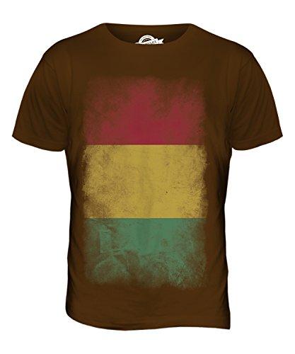 CandyMix Guinea Verblichen Flagge Herren T Shirt Braun