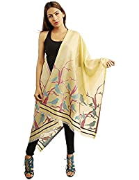 Funkia™ Summer Cool Pure Cotton Designer Stole With Sparrow Jacqaurd Cutting Work Boarder And Self Design All...