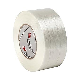 "tapecase 13391,5""x 60yd translúcido Película de poliéster/cristal filamento 3m Cinta aislante 1339reforzada, 266Grado F Performance Temperatura, 0,0065longitud de grosor, 60yd., 1,5cm de ancho."