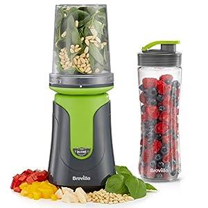 Breville Blend Active Compact Food Processor & Smoothie Maker   1 x Processor Bowl   1 x Portable Blending Bottle (600 ml)   300 W   Green [VBL241]