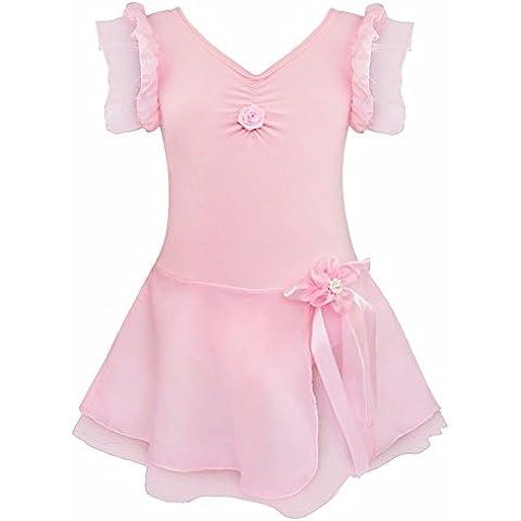 iEFiEL Vestidos de Ballet de Princesa para Niñas Chicas Tútu Traje de Danza Vestido de Fiesta