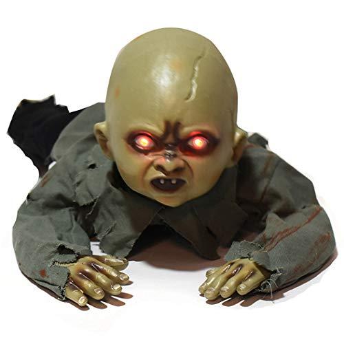 Justdolife Halloween Verzierung Gruselig Baby Krabbelnden Geist Licht Sound Spukhaus Prop