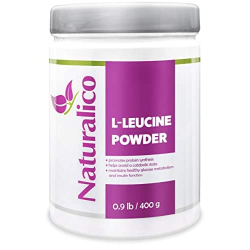41qlnPV1nTL. SS500  - Naturalico L-LEUCINE Powder | USA Made | GMO Free | Fast Absorbable | Promotes Protein Synthesis | Maintains Healthy…