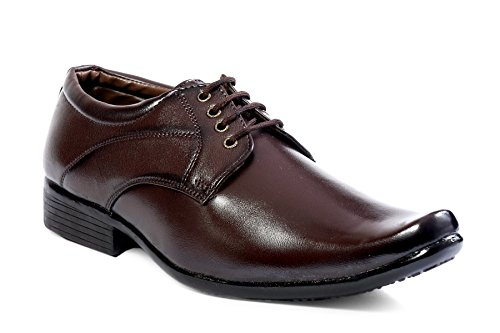 shoecom mens Dark Brown Formal Party Wear Shoes For Men