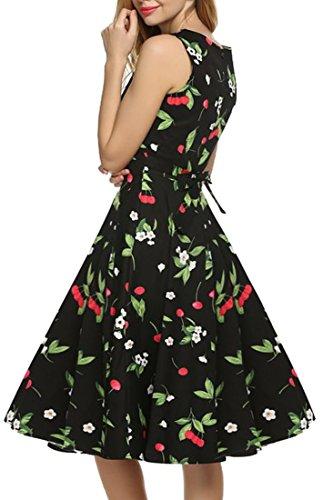 REPHYLLIS Femme Vintage 1950's Audrey Hepburn robe de soirée cocktail années 50 Rockabilly Swing Vert