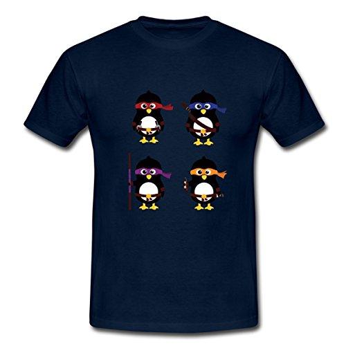 Pinguin Ninjas Männer T-Shirt von Spreadshirt®, 3XL, (Kostüme Tshirt Ninja)