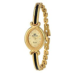 Espoir Makani Collection Analog Gold Dial Women's Watch - SakshiGold0507