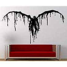 Adhesivo de Pared, Death Note, vinilo, negro, pequeño