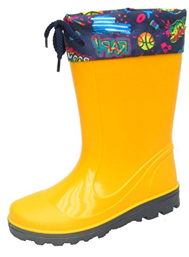 BOCKSTIEGEL® LAURA Childrens Rubber Boots | Wellies | 22-35 | Phthalate free | Laces