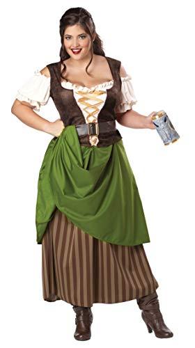 Tavern Maiden Costume (Plus Size) - Dress 20 -